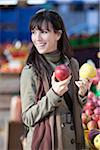 Woman at Outdoor Market, Montreal, Quebec, Canada Stock Photo - Premium Royalty-Free, Artist: Pierre Arsenault, Code: 600-03891318