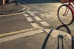 Road with cycle path and bicycle Stock Photo - Premium Royalty-Freenull, Code: 614-03902254