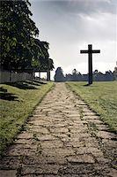religious cross nobody - Skogskyrkogarden, a cemetery, Stockholm, Sweden. Stock Photo - Premium Royalty-Freenull, Code: 6102-03904991