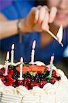 Woman with a birthday cake. Stock Photo - Premium Royalty-Free, Artist: Chris Frazer Smith, Code: 6102-03905405