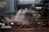 steam engine - An old black steam engine, Sweden. Stock Photo - Premium Royalty-Freenull, Code: 6102-03905664