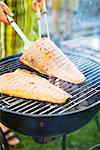 Salmon on a grill, Sweden. Stock Photo - Premium Royalty-Free, Artist: Edward Pond, Code: 6102-03905712
