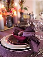 setting kitchen table - Place setting at dining table Stock Photo - Premium Royalty-Freenull, Code: 6102-03905877