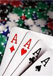 aces and Casino Chips in background Stock Photo - Royalty-Free, Artist: mikdam, Code: 400-03908536