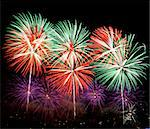 Colorful fireworks display.