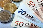 Colorful euro banknotes Stock Photo - Royalty-Free, Artist: mikdam, Code: 400-03911010