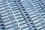 100 US dollars banknotes in blue lighting Stock Photo - Royalty-Free, Artist: AlexStar, Code: 400-03911300