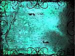 Grunge style ornate background