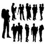 Silhouettes of parents with baby, vector illustration Stock Photo - Royalty-Free, Artist: Tolchik, Code: 400-03912458