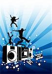 A party design with people and music elements. Stock Photo - Royalty-Free, Artist: solarseven, Code: 400-03915244