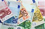 Colorful euro banknotes, close-up Stock Photo - Royalty-Free, Artist: pisicax, Code: 400-03916031