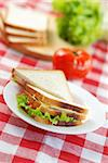Sandwich with ingredients, shallow depth of field Stock Photo - Royalty-Free, Artist: haveseen, Code: 400-03919921