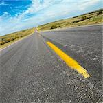 Diagonal view of two lane road in rural South Dakota. Stock Photo - Royalty-Free, Artist: iofoto, Code: 400-03923895