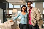 Portrait of African American couple in home furnishings retail store. Stock Photo - Royalty-Free, Artist: iofoto, Code: 400-03924718
