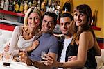 healthy living: friends at a restaurant having fun together Stock Photo - Royalty-Free, Artist: diego_cervo, Code: 400-03928085