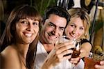 healthy living: friends at a restaurant having fun together Stock Photo - Royalty-Free, Artist: diego_cervo, Code: 400-03928227