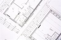 Family house plans - background Stock Photo - Royalty-Freenull, Code: 400-03931223