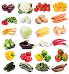 image set of fresh ripe vegetables on white background. See larger versions of each image separately in my portfolio Stock Photo - Royalty-Free, Artist: NiDerLander, Code: 400-03931521