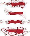 ornamental red banner set