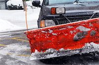 snow plow truck - Snow plow truck on a road during a snowstorm Stock Photo - Royalty-Freenull, Code: 400-03932607