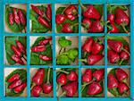 old green wooden box with differents hot red chili peppers Stock Photo - Royalty-Free, Artist: trexec, Code: 400-03933649