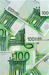 Green background made of banknotes of one hundred euros Stock Photo - Royalty-Free, Artist: lightkeeper, Code: 400-03933675