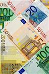 European currency collage - multicolored euro banknotes background Stock Photo - Royalty-Free, Artist: lightkeeper, Code: 400-03933690