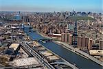 Aerial view of Harlem River and bridges with the Bronx and Manhattan buildings in New York City. Stock Photo - Royalty-Free, Artist: iofoto, Code: 400-03935341