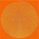 Dizzying spiralling lines in orange and yellow Stock Photo - Royalty-Free, Artist: karimala, Code: 400-03941487