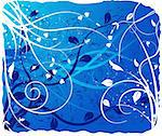 Abstract  artistic winter background - vector