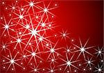 Christmas pattern made with starry pattern over red Stock Photo - Royalty-Free, Artist: pnog, Code: 400-03942139