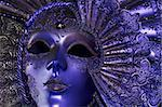 Celebratory dark blue mask with a jewel Stock Photo - Royalty-Free, Artist: terex, Code: 400-03942723