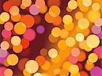 Christmas background with glowing lights, vector