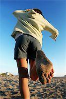 Girl running on the beach Stock Photo - Royalty-Freenull, Code: 400-03945607