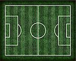 Abstract football (soccer) field on grass. Stock Photo - Royalty-Free, Artist: phecsone, Code: 400-03946974