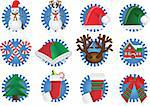 Vector illustration - christmas icon Stock Photo - Royalty-Free, Artist: Jut, Code: 400-03947709