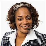 Head and shoulder of smiling businesswoman talking on telephone headset. Stock Photo - Royalty-Free, Artist: iofoto, Code: 400-03949200
