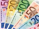 Colorful euro banknotes, extreme close-up Stock Photo - Royalty-Free, Artist: pisicax, Code: 400-03952034