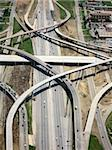 Aerial View of Highway with Crossing Lanes Stock Photo - Royalty-Free, Artist: surpasspro, Code: 400-03952843