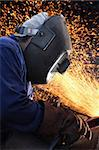 welder at shipyard working Stock Photo - Royalty-Free, Artist: glenj, Code: 400-03955846