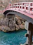 traditional sacred red bridge in Nikko, Japan Stock Photo - Royalty-Free, Artist: yuriz, Code: 400-03956076