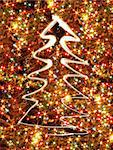 xmas tree from the lights on the black background Stock Photo - Royalty-Free, Artist: jonnysek, Code: 400-03956702