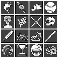 queue club - A set of sports icons / design elements. Vector art in Adobe Illustrator 8 EPS format. Can be scaled to any size without loss of quality. Stock Photo - Royalty-Freenull, Code: 400-03956905