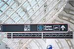 Gates sign in international airport Stock Photo - Royalty-Free, Artist: Elenathewise, Code: 400-03957151
