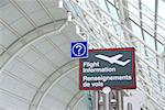Flight information sign in international airport Stock Photo - Royalty-Free, Artist: Elenathewise, Code: 400-03957152