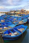 Fleet of Blue Fishing Boats in Harbor, Essaouira, Morocco Stock Photo - Premium Rights-Managed, Artist: F. Lukasseck, Code: 700-03958165