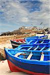 Blue Fishing Boats on Land, Essaouira, Morocco Stock Photo - Premium Rights-Managed, Artist: F. Lukasseck, Code: 700-03958171