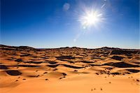 Sun over Desert Sand Dunes, Erg Chebbi, Morocco Stock Photo - Premium Rights-Managednull, Code: 700-03958207