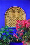 Close-Up of Window, Jardin Majorelle, Marrakech, Morocco