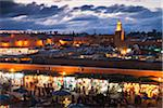 Jemaa el-Fnaa at Dusk, Marrakech, Morocco Stock Photo - Premium Rights-Managed, Artist: F. Lukasseck, Code: 700-03958255